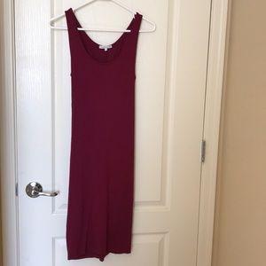 Charlotte Russe dark red bodycon tie-back dress